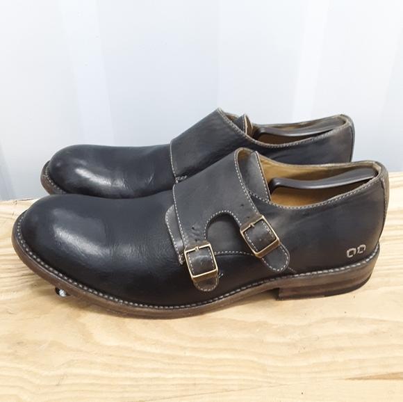 Bed Stu Men's 11½ Leather Monk Strap Oxford Shoes